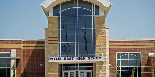 Built Wright Construction - Steel Erection Wylie East High School